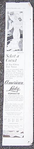 1916 LADIES HOME JOURNAL AMERICAN LADY CORSETS: Advertisement