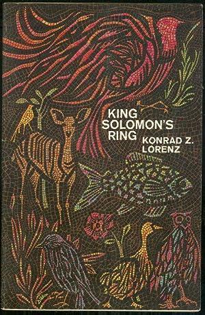 KING SOLOMON'S RING New Light on Animal: Lorenz, Konrad