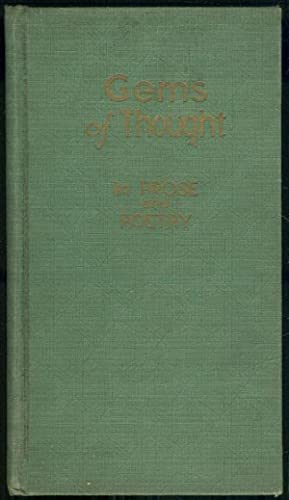 GEMS OF THOUGT IN PROSE AND POETRY: Ahrendt, Vivian editor