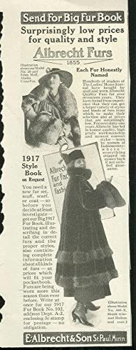 1916 LADIES HOME JOURNAL ALBRECHT QUALITY FURS: Advertisement