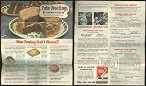 CAKE FROSTINGS 8 Grand Recipes and a: Advertisement