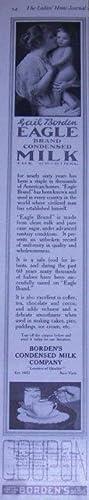 1916 LADIES HOME JOURNAL BORDEN'S EAGLE BRAND CONDENSED MILK MAGAZINE ADVERTISEMENT: ...