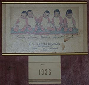 1936 DIONNE QUINTUPLETS CALENDAR FROM R. L.: Dionne Quintuplets
