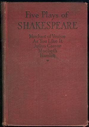 FIVE PLAYS OF WILLIAM SHAKESPEARE Julius Caesar,: Shakespeare, William