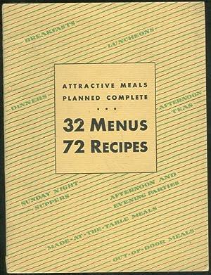 ATTRACTIVE MEALS PLANNED COMPLETE 32 Menus 72: Batchelder, Ann