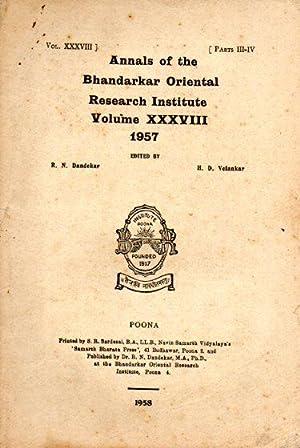 ANNALS OF THE BHANDARKAR ORIENTAL RESEARCH INSTITUTE,