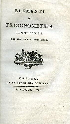 Elementi di trigonometria rettilinea: Rossignol de Vallouise