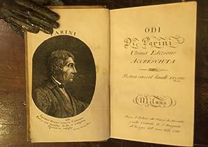 Odi. Ultima Edizione accresciuta: Parini Giuseppe