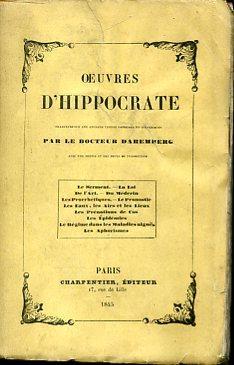 Oeuvres d' Hippocrate traduites sur les anciens: Ippocrate