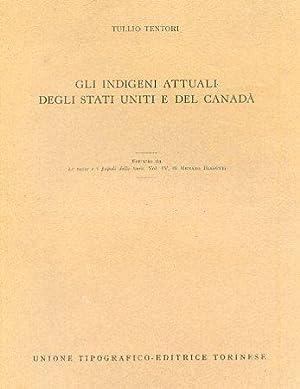 Gli indigeni attuali degli Stati Uniti e: Tentori Tullio