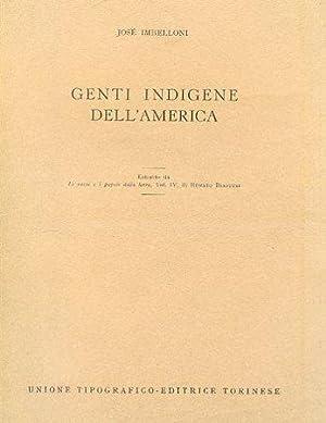 Genti indigene dell'America. Estratto da Le razze: Imbelloni José