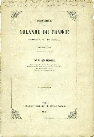 Chroniques de Yolande de France Duchesse de: Ménabréa Léon [Leone]