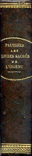 Les Livres Sacrées de l'Orient, comprenant le: Pauthier Jean Pierre