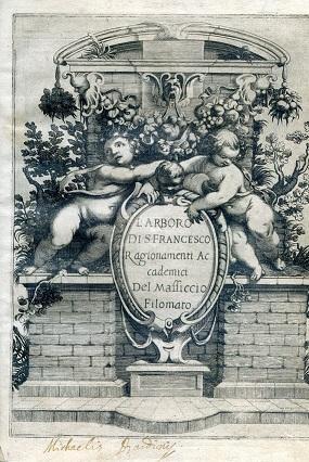 L'Arboro di S. Francesco. Ragionamenti Accademici del: Cardi Angelo (Massiccio
