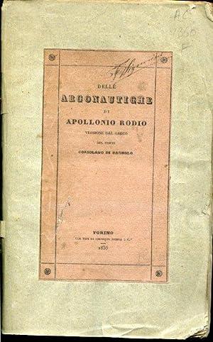 Delle Argonautiche. Versione dal greco del conte: Apollonio Rodio