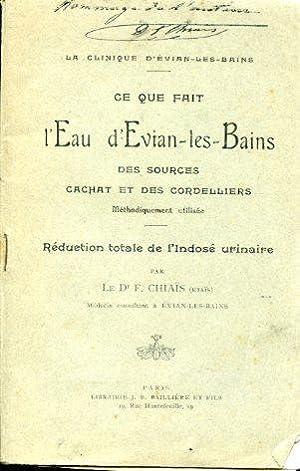 La clinique d'Évian. Ce que fait l'Eau d'Evian - les - Bains. Des sources ...