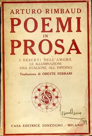 Poemi in prosa. I deserti dell'amore. Le: Rimbaud Arthur