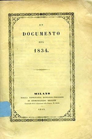Un documento del 1834: Gioberti Vincenzo]