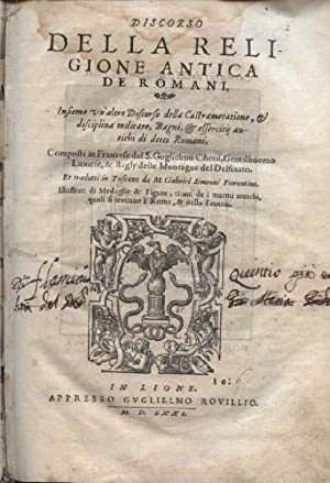 Discorso della religione antica de Romani, insieme: Du Choul Guillaume