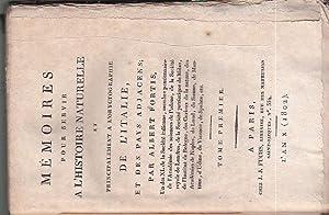 Mémoires pour servir a l'Histoire Naturelle et: Fortis Alberto
