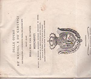 Delle Opere de' Medici, e de' Cerusici: Malacarne Vincenzo