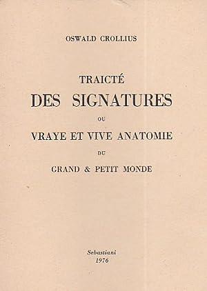 Traicté des Signatures ou vraye et vive: Crollius (Croll) Oswald