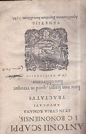 Tractatus Iuris non scripti, quod in utroque: Scappi Antonio