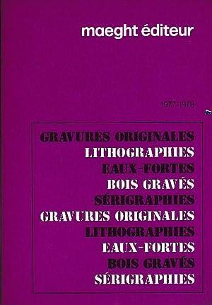 Maeght éditeur. 1977 - 1978. Gravures originales