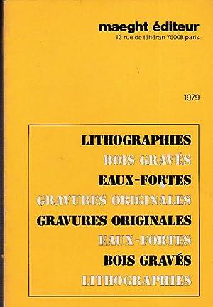 Maeght éditeur 1979. Lithographies - Bois gravés