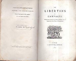 Les libertins en campagne. Mémoires tirés du