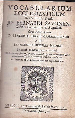 Vocabolarium Ecclesiasticum Rever. Patris Fratris Jo. Bernardi: Forte Giovanni Bernardo