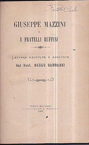 Giuseppe Mazzini e i fratelli Ruffini. Lettere: Cagnacci Carlo