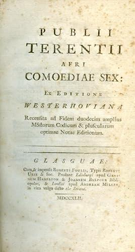 Publii Terentii Afri Comoediae sex: ex editione: Terentius Afer Publius