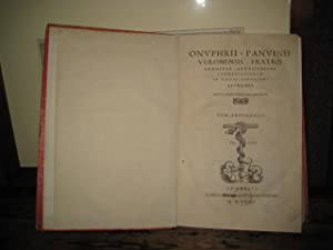 Commentariorum in Fastos Consulares Appendix - De: Panvinio Onofrio