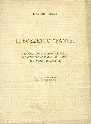 """Il bozzetto """"Fante"""" nel concorso nazionale per: Baroni Eugenio"""