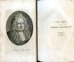 Lettere scientifiche ed erudite - Saggi di: Magalotti Lorenzo