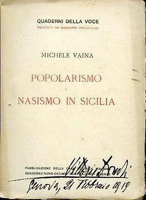 Popolarismo e nasismo in Sicilia: Vaina Michele