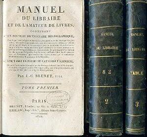 Manuel du Libraire et de l'Amateur de: Brunet Jacques Charles