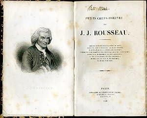 Petits chefs - d'oeuvre. Discours couronné par: Rousseau Jean Jacques