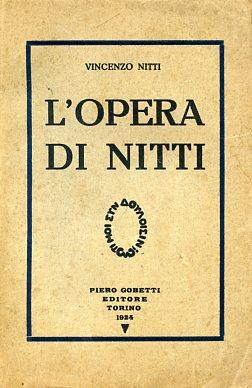 L'opera di Nitti: Nitti Vincenzo