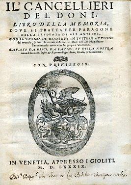 Il Cancellieri del Doni, libro della memoria.: Doni Anton Francesco