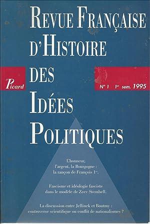 Revue française d'histoire des idées politiques. N°1: Collectif