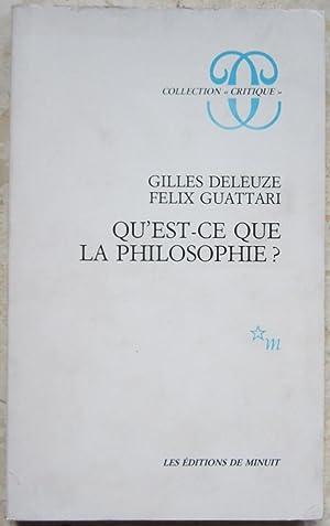 Qu Est Ce Que La Philosophie Abebooks