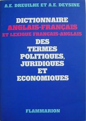 Dictionnaire anglais-français et lexique français-anglais des termes: Chaudesaigues-Deysine (A. E.),