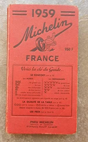 Guide Michelin France 1959.