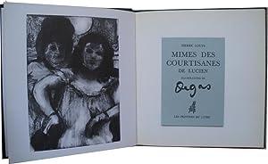 Mimes des courtisanes de Lucien.: Louÿs (Pierre)