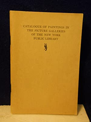 Catalogue of Paintings in the Picture Galleries