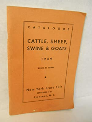 Catalogue of Entries. Cattle, Sheep, Swine & Goats: Dodds, Bligh A.