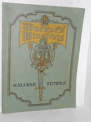 EJ Worker's Minstrels. Kalurah Temple, April 11-14: E-J Corp.