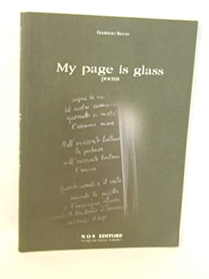 My Page Is Glass: Poems. SIGNED by: Seguso, Giampaolo